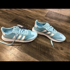 Adidas flashback baby blue shoes